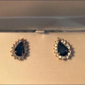 Jewelry - Faux Sapphire  Rhinestone Earring